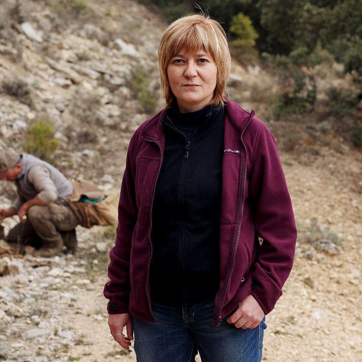 Carolina Herrada, truficultora y veterinaria,